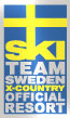 Official resort for Ski team Sweden, Banner